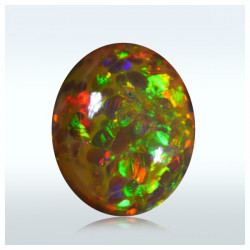 4.20 ct. Brilliant Dark Caramel Honeycomb Opal
