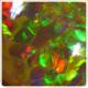 4.20 ct. Opalo Panel Abejas Brillante Caramelo Oscuro
