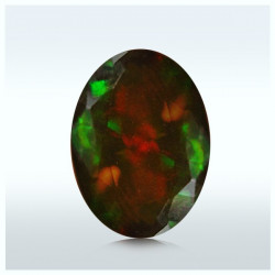 1.11 Cts. Faceted Bright Play Color Opal