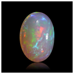 1.00 Ctr Opal Crystal Clear Multicolor Flash